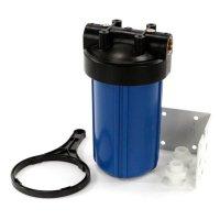 Магистральный фильтр Big Blue 10, синий (ключ, кронштейн, без картриджа) купить в интернет-магазине Азбука Сантехники