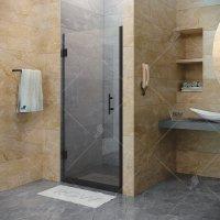 Душевая дверь RGW Hotel HO-011B, 900 × 1950 мм, с тонированным (серым) стеклом, профиль — черный купить в интернет-магазине Азбука Сантехники