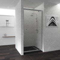 Душевая дверь RGW Passage PA-05, 800 × 1850 мм, стекло Cora, профиль — хром купить в интернет-магазине Азбука Сантехники