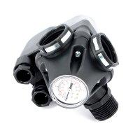 "Реле давления UNI-FITT PM 5-3W (наружная-внутренняя-внутренняя резьба) 1"", с манометром, 1–5 бар купить в интернет-магазине Азбука Сантехники"