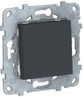 Schneider Electric Unica New Антрацит Выключатель 1-клавишный кнопочный сх.1 10A купить в интернет-магазине Азбука Сантехники