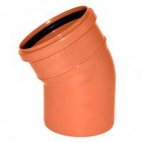 Отвод ПВХ Ø 110 мм × 15° для наружной канализации купить в интернет-магазине Азбука Сантехники