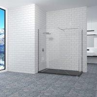 Перегородка для душа RGW Walk In WA-20, (700 × 800) × 1950 мм, с прозрачным стеклом, профиль — хром купить в интернет-магазине Азбука Сантехники