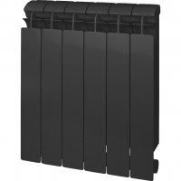 Радиатор биметаллический Global Style Plus 500 черный, 10 секций купить в интернет-магазине Азбука Сантехники