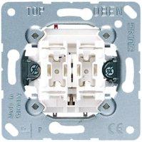 Jung Механизм Выключатель кнопочный 2-клавишный 2НО-контакта 10A купить в интернет-магазине Азбука Сантехники