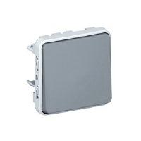 Legrand Plexo Серый Переключатель промежуточный (перекрестный) 1-клавишный 10A IP55 купить в интернет-магазине Азбука Сантехники