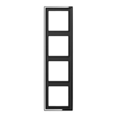 Jung LS 990 Хром Рамка 4-постовая купить в интернет-магазине Азбука Сантехники