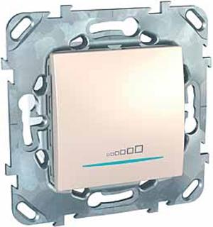 Schneider Electric Unica Бежевый Светорегулятор нажимной 20-350 Вт универсальный купить в интернет-магазине Азбука Сантехники