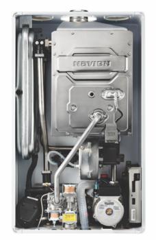 Котел газовый настенный двухконтурный NAVIEN DELUXE S 35K COAXIAL, закрытая камера, коаксиальное дымоудаление купить в интернет-магазине Азбука Сантехники