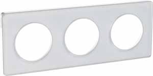 Schneider Electric Odace Прозрачный Белый/Белый Рамка 3 поста купить в интернет-магазине Азбука Сантехники