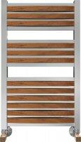 Полотенцесушитель водяной Benetto Legno Римини П15 480 × 786, цвет - вишня купить в интернет-магазине Азбука Сантехники