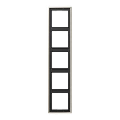 Jung LS 990 Cталь Рамка 5-постовая купить в интернет-магазине Азбука Сантехники