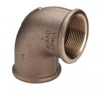 """Угольник Viega ВР 90° Ø 3/4"""" × 1/2"""" бронзовый, модель 3090 (320 669) купить в интернет-магазине Азбука Сантехники"""