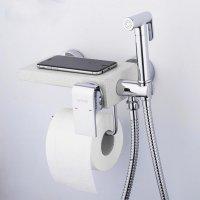 Гигиенический душ Gappo G7296 c бумагодержателем, кварц/хром купить в интернет-магазине Азбука Сантехники