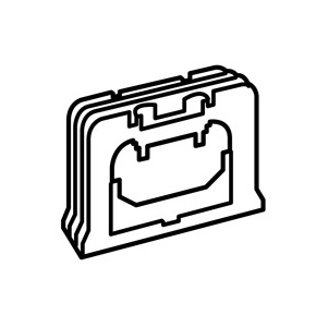 Legrand Valena Слоновая кость Элемент для стыковки коробок накладного монтажа купить в интернет-магазине Азбука Сантехники