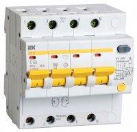 IEK АД14 Дифавтомат 4P 16A (C) 4,5kA тип AC 30mA купить в интернет-магазине Азбука Сантехники