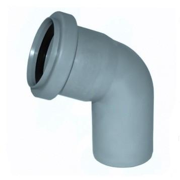 Отвод Политэк Ø 50 мм × 67° полипропиленовый серый купить в интернет-магазине Азбука Сантехники