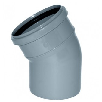 Отвод Политэк Ø 110 мм × 30° полипропиленовый серый купить в интернет-магазине Азбука Сантехники