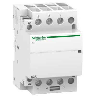 Schneider Electric Acti 9 iCT Контактор модульный 63A 230…240V 50Гц 3НО купить в интернет-магазине Азбука Сантехники
