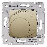 Legrand Galea Life Титан Термостат c LED-индикатором НЗ-контакт 5A cos φ=1 / 2A cos φ=0,6 купить в интернет-магазине Азбука Сантехники