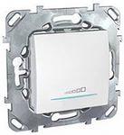 Schneider Electric Unica Белый Светорегулятор нажимной 20-350 Вт универсальный купить в интернет-магазине Азбука Сантехники