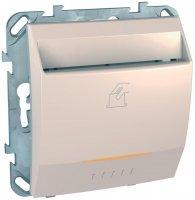 Schneider Electric Unica Бежевый Выключатель карточный купить в интернет-магазине Азбука Сантехники