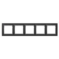 Legrand Valena Ноктюрн/Серебряный Штрих Рамка 5-ая горизонтальная купить в интернет-магазине Азбука Сантехники