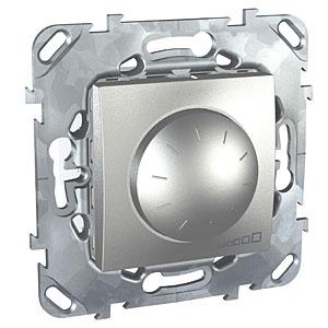 Schneider Electric Unica Top Алюминий Светорегулятор поворотный для электронных ПРА (1-10В) выкл 4A купить в интернет-магазине Азбука Сантехники
