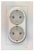 Schneider Electric AtlasDesign Жемчуг Розетка двойная с/з 16A в сборе купить в интернет-магазине Азбука Сантехники