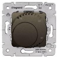 Legrand Galea Life Темная Бронза Термостат c LED-индикатором НЗ-контакт 5A cos φ=1 / 2A cos φ=0,6 купить в интернет-магазине Азбука Сантехники
