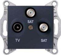 Schneider Electric Sedna Графит RT/V-SAT/SAT розетка оконечная 1dB купить в интернет-магазине Азбука Сантехники