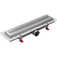 Душевой лоток MIANO BASIC 900 мм, боковой слив D50, глянцевая решетка купить в интернет-магазине Азбука Сантехники