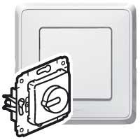 Legrand Cariva Белый Светорегулятор поворотный 40-300В/ВА для л/н купить в интернет-магазине Азбука Сантехники