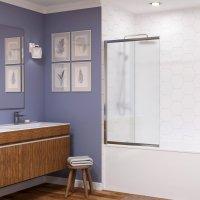 Стеклянная шторка на ванну WasserKRAFT Main 41S02-100L Matt glass купить в интернет-магазине Азбука Сантехники