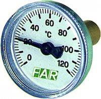 """Термометр FAR 0–120°C, зонд 36 мм, Ø 40 мм, торцевое соединение 3/8"""" купить в интернет-магазине Азбука Сантехники"""