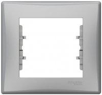 Schneider Electric Sedna Алюминий Рамка 1-постовая купить в интернет-магазине Азбука Сантехники