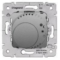 Legrand Galea Life Алюминий Термостат c LED-индикатором НЗ-контакт 8A cos φ=1 / 4A cos φ=0,6 купить в интернет-магазине Азбука Сантехники