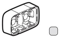 Legrand Valena Allure Алюминий Коробка для накладного монтажа 2-ая купить в интернет-магазине Азбука Сантехники