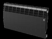 Радиатор биметаллический RoyalThermo Biliner 350 VD с нижним подключением, Noir Sable черный графитовый, 10 секций купить в интернет-магазине Азбука Сантехники