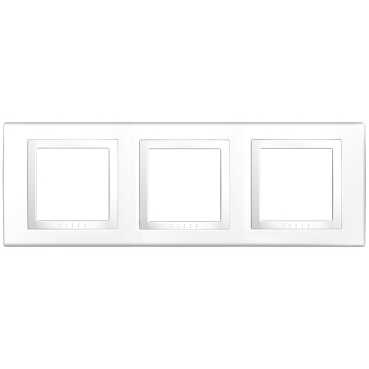 Schneider Electric Unica Белый Рамка 3-ая купить в интернет-магазине Азбука Сантехники