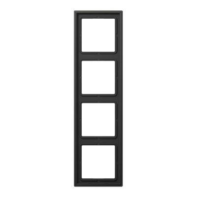 Jung LS 990 Антрацит Рамка 4-постовая купить в интернет-магазине Азбука Сантехники