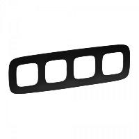 Legrand Valena Allure Матовый черный Рамка 4 поста купить в интернет-магазине Азбука Сантехники