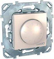 Schneider Electric Unica Бежевый Светорегулятор поворотный 40-1000 Вт для л/н г/л с обмоточным трансформатором купить в интернет-магазине Азбука Сантехники