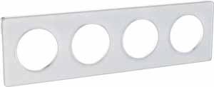 Schneider Electric Odace Прозрачный Белый/Белый Рамка 4 поста купить в интернет-магазине Азбука Сантехники