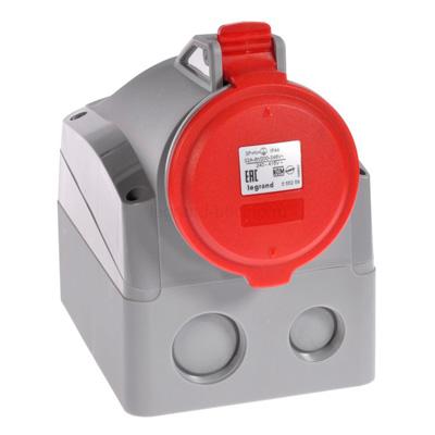 Legrand P17 Tempra Pro Розетка накладная 2P+PE 32A 380-415V IP44 купить в интернет-магазине Азбука Сантехники