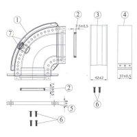 Отвод 45° Protherm Ø 80 мм для раздельного дымохода, для котлов ЯГУАР купить в интернет-магазине Азбука Сантехники