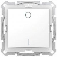 Schneider Electric Sedna Белый Выключатель 1-клавишный 2-полюсный 10A IP44 купить в интернет-магазине Азбука Сантехники