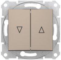 Schneider Electric Sedna Титан Выключатель жалюзийный с электрической блокировкой 10A купить в интернет-магазине Азбука Сантехники
