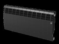 Радиатор биметаллический RoyalThermo Biliner 350 VD с нижним подключением, Noir Sable черный графитовый, 12 секций купить в интернет-магазине Азбука Сантехники