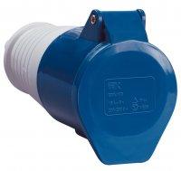 IEK ССИ-213 Розетка переносная 2P+РЕ 16A/250V IP44 синий купить в интернет-магазине Азбука Сантехники
